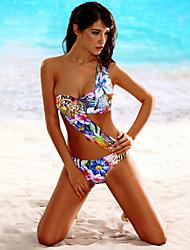cheap -Women's Bandeau Floral Monokini