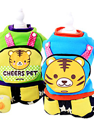 cheap -Dog Costume Coat Outfits Jumpsuit Dog Clothes Letter & Number Cartoon Green Blue Cotton Costume For Pets Men's Cosplay Keep Warm Fashion