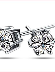 925 Silver Sterling Silver Jewelry Earrings Sample Zircon Stud Earring 1Pair