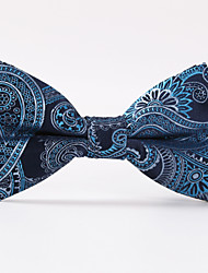 cheap -Men's Party/Evening Wedding Blue Paisley  A Formal Butterfly Bow Tie
