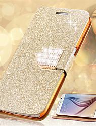 economico -Custodia Per Samsung Galaxy Porta-carte di credito / Con diamantini / Con supporto Integrale Glitterato Resistente pelle sintetica per S8 Plus / S8 / S6 edge plus