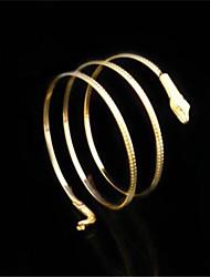 Недорогие -Браслет цельное кольцо Кристалл Жемчуг 18K золото Уникальный дизайн Мода Заявление ювелирные изделия Бижутерия Золотой Серебряный
