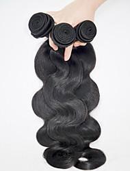 abordables -3 paquetes Cabello Brasileño Ondulado Grande Cabello humano Tejidos Humanos Cabello Cabello humano teje Extensiones de cabello humano