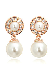 cheap -Women's Pearl Imitation Pearl Cubic Zirconia Drop Earrings - Fashion Silver Rose Gold Earrings For Daily