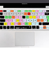 voordelige -XSKN Final Cut Pro 7 siliconen laptop toetsenbord Cover Skin voor de MacBook Air 13 inch, MacBook Pro 13 15 17 inch, eu layout