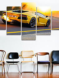 cheap -(No Frame) 5 Piece Sports Car Modern Home Wall Decor Canvas Picture Art HD Print Painting On Canvas For Wedding Decor