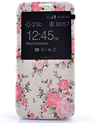 cheap -Case For Samsung Galaxy Samsung Galaxy S7 Edge with Windows Flip Full Body Cases Flower PU Leather for S7 plus S7 edge S7