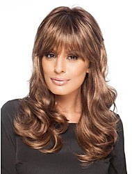 Fashion Hair Women Lady Long Curly Synthetic Brown Color Hair Wig