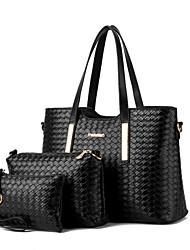baratos -Mulheres Bolsas PU Tote / Bolsa de Ombro / Conjuntos de saco para Compras / Formal / Ao ar livre Vinho / Azul Real / Champanhe