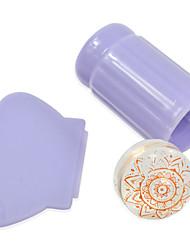 1stk farverige transparent / pink / lilla jelly stempel nail art dekoration nail art værktøjer nj115