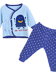cheap -Baby Unisex Clothing Set, Cotton All Seasons Long Sleeves Blue