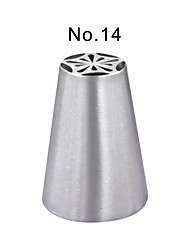 cheap -Stainless Steel Piping Nozzle Pastry Tube Fondant Cake Decorating Tools Kitchen AccessoriesJG0017-No.14