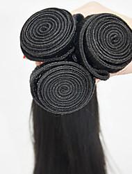 abordables -3pieces / lot cheveux humains tisse la soie 16inch d'extension de cheveux humains cheveux vierges droite enchevêtrement libre
