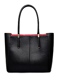 Women Bags All Seasons Cowhide Shoulder Bag Tote with for Casual Black Red Blue