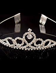 tiaras de aleación de diamantes de imitación de cristal de estilo femenino clásico