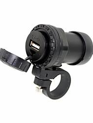 abordables -motocicleta universal de 12v impermeable a 5V adaptador de alimentación del puerto USB cargador de teléfono móvil con soporte de montaje