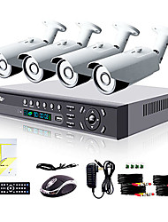 economico -liview® 4ch hdmi 960h network dvr 900tvl sistema di telecamere di sicurezza day / night per esterni
