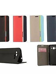 economico -Per Samsung Galaxy Custodia Porta-carte di credito / Con supporto / Con chiusura magnetica Custodia Integrale Custodia Tinta unita