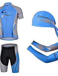 cheap -cheji® Men's Short Sleeves Cycling Jersey with Shorts - Blue Bike Shorts Clothing Suits, 3D Pad, Quick Dry, Ultraviolet Resistant,