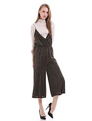 cheap -Women's Casual / Day Striped Loose Dress , Strap Midi Cotton / Polyester