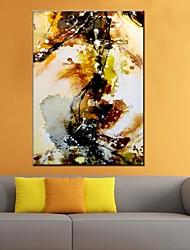 Peint à la main AbstraitModern / Classique / Traditionnel / Pastoral / Style européen Un Panneau Toile Peinture à l'huile Hang-peint For