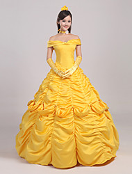 cheap -Cosplay Costume/Party Costume Fairytale Princess Bella Yellow Movie Cosplay Halloween Cosplay Costumes Skirt / Headpiece / Gloves / Petticoat / Ribbon