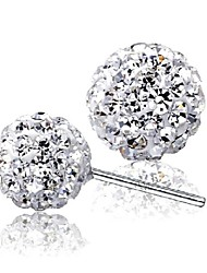 cheap -Women's Stud Earrings Sterling Silver Zircon Silver Jewelry Wedding Party Daily Casual Sports Costume Jewelry