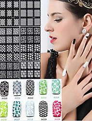 10pcs diferentes estilos manicure stencil impressão de pasta de manicure ferramentas de unha oca modelo desenho colorido