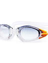 Недорогие -плавательные очки Противо-туманное покрытие По предписанию врача Зеркальный силикагель Поликарбонат белый зеленый красный черный