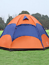 cheap -Sheng yuan 3-4 persons Tent Double Camping Tent One Room Fold Tent Anti-Insect Breathability Oversized for Hiking Camping 1500-2000 mm
