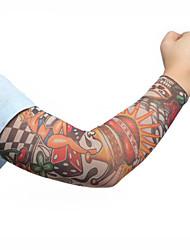 manchons de bras vélo de vélo de sport de mode couvrent la peau protection solaire brassard élastique (2pcs)