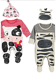 cheap -Baby Unisex Overall & Jumpsuit, Cotton Summer Cartoon Long Sleeves Gray Red