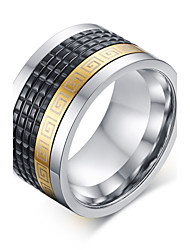cheap -316 Pure Steel Great Wall Lines Man Ring Christmas Gifts