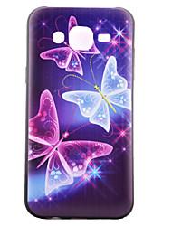 economico -Per Samsung Galaxy Custodia Fantasia/disegno Custodia Custodia posteriore Custodia Farfalla TPU Samsung J5 / J1 / Grand Prime / Core Prime