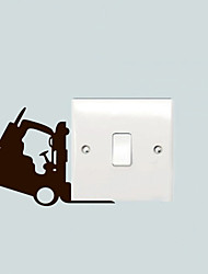 The Forklift Wall stickers,switch stickers,socket decoration