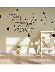 cheap -Twinkle Twinkle Little Star Wall Sticker Quote Kid Nursery Decor Vinyl Decal DIY