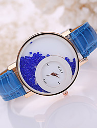 Women's Leather Band White Beads Case Analog Quartz Wrist Watch Cool Watches Unique Watches