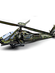 baratos -Quebra-Cabeças 3D Maquetes de Papel Helicóptero Diversão Papel Clássico Helicóptero Dom