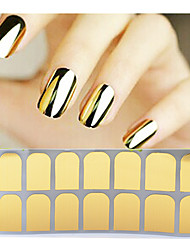 cheap -1sheet Adhesive Nail Art Stickers Gold Silver Black Nail Patch,Full Cover Nail Foil Wraps,DIY Beauty Nail Decals Tools