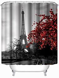 """cheap -Modern Eiffel Tower Shower Curtains W71""""×L71"""""""