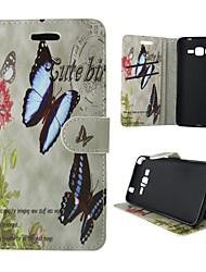 economico -Custodia Per Samsung Galaxy Samsung Galaxy Custodia Porta-carte di credito / Con supporto / Con chiusura magnetica Integrale Farfalla pelle sintetica per A5(2016) / A3(2016) / A5