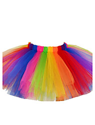 cheap -Girls' Holiday Color Block Skirt, Cotton Polyester Spring Summer Fall Lace