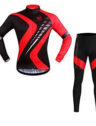 preiswerte -KEIYUEM Fahrradtrikots mit Fahrradhosen Unisex Langarm Fahhrad Kleidungs-Sets Wasserdicht Rasche Trocknung Windundurchlässig Isoliert