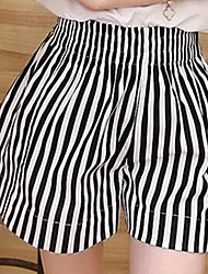 cheap -Women's High Rise Inelastic Wide Leg Jeans Pants Striped Polyester Summer