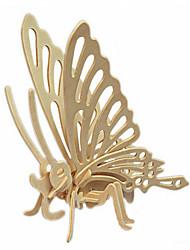 puslespil 3D-puslespil Træpuslespil Byggesten Gør Det Selv Legetøj Sommerfugl Træ