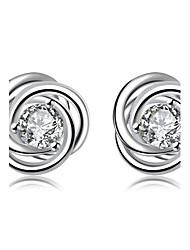 cheap -Hot Women Fashion Bijouterie Romantic Cherry Flowers Silver Ear Studs Earrings Lovers Gifts