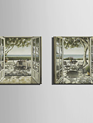 Mini Size E-HOME Oil painting Modern Leisure Time By The Sea Pure Hand Draw Frameless Decorative Painting