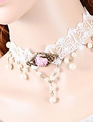 Недорогие -Женский Ожерелья-бархатки Ожерелья-обручи Готический ювелирные изделия Кружево Ткань Ожерелья-бархатки Ожерелья-обручи Готический