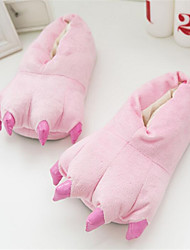 Kigurumi Pajamas Anime Shoes Slippers Festival/Holiday Animal Sleepwear Halloween Pink Blue Yellow Dark Green Solid Cotton Slippers For