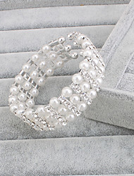 cheap -Women's Strand Bracelet Silver / Pearl Pearl Classical Feminine Style